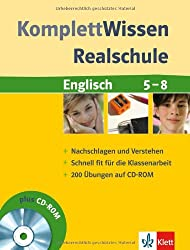 KomplettWissen Realschule Englisch 5.-8. Klasse. Mit CD-ROM