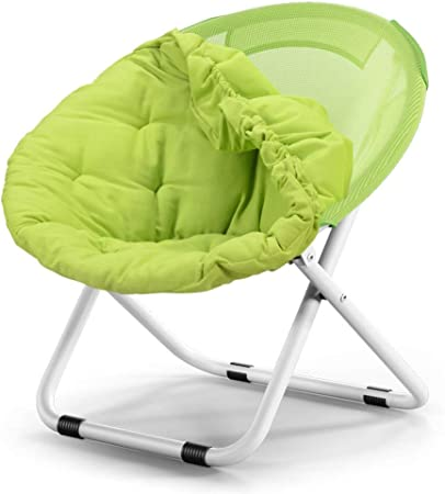 FOLDING CAMPING CHAIR PADDED MOON CHAIR GARDEN OUTDOOR FESTIVAL ROUND CAMPING