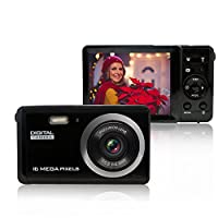 Mini Digital Camera with 3 Inch TFT LCD Display 8X Digital zoom Voice recorder, 20MP 1080P HD Digital Camcorder for Kids/ Learner/ Seniors (Black)