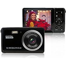 MiniDigitalCameraforPhotographywith3InchLCD8XDigitalZoom,16MPHDDigitalCameraRechargeablePointandShootCamera,IndoorOutdoorforKids/Seniors/Learner(Black)