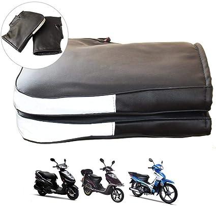 Imperm/éable et Thermique Convient /à Moto Gant Moto Chauffant Hiver Gant Chaud de Protection Manchon Moto Coupe-Vent Install/é sur Poign/ée avec Les Crochets Scooter,Noir
