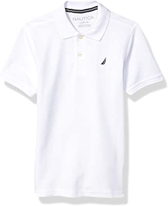 Nautica Boys Short Sleeve Solid Polo