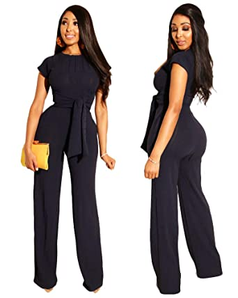 1e4563e9f6 Amazon.com  Ekaliy Women Casual 2 Piece Outfits Tops Skinny Pants Sets  Jumpsuits  Clothing