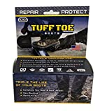 Black Tuff Toe Boot Guard Protection & Repair for Steel & Composite Saftey Toe Boot Heel Guard & Work Shoe Repair -20171