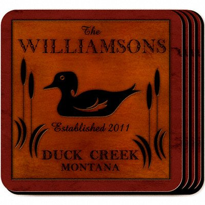 Personalized Gift Cabin Series Coaster (Set of - Cabin Set Series Coaster