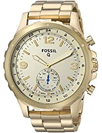 Q Men's Nate Stainless Steel Hybrid Smartwatch, Color: Gold-Tone (Model: FTW1142)