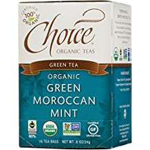 Choice Organic Green Moroccan Mint Herbal Tea, 16 Count Box