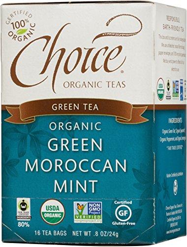Choice Organic Green Moroccan Mint Herbal Tea, 8 oz,16 Count Box