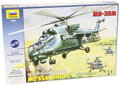Zvezda Models 1/72 MIL Mi-35 Helicopter Gunship