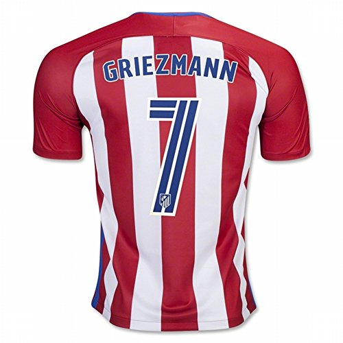 Atletico Madrid 2016 2017 New Season 7 GRIEZMANN Home Soccer Jersey (Atletico Madrid Soccer Jersey)