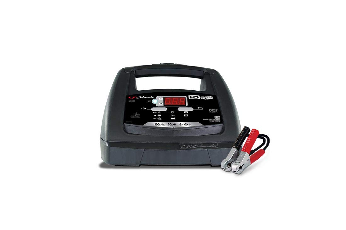 Schumacher SC1308 6/12V Fully Automatic Battery Charger and 30/100A Engine Starter with Advanced Diagnostic Testing by Schumacher (Image #2)