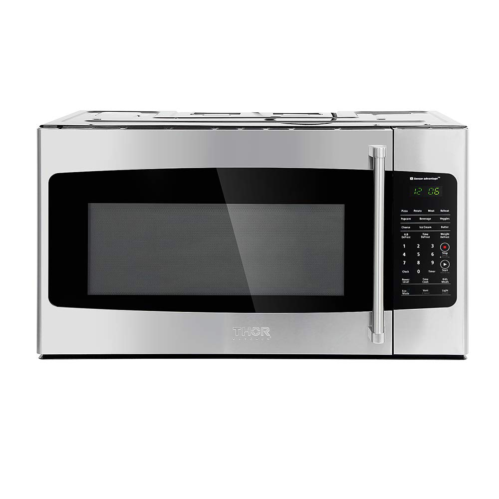 """30"""" Thor Kitchen Countertop Microwave Ovens 1.7cu.ft Build-in Stainless Steel Charcoal Filter Sensor Cooking HOR3001"""