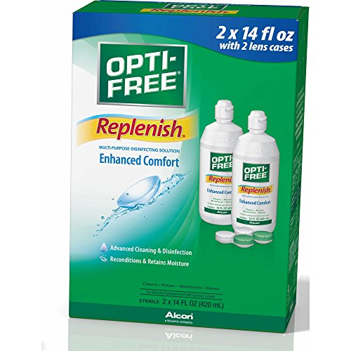 Lens Alcon Contact Solution (Opti-free Replenish 2 x 14 oz pack)