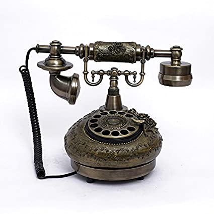 Amazon com : Ryu Vintage telephone Rotary plate antique