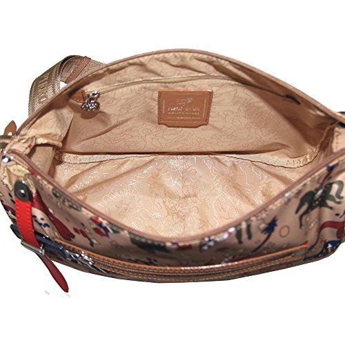 Piero Guidi borsa donna a tracolla mezzaluna Magic Circus Nylon Plus beige - 210193088.11