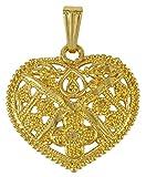 Banithani 18K Goldplated Traditional Heart Design Chain Pendant Jewelry