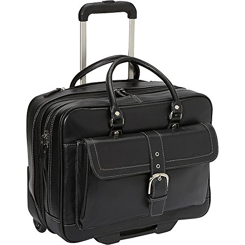 [Heritage Soho Leather Mobile Office (Black)] (Soho Black Leather)