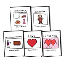 Edward Monkton 5 Books I Love You Collection Pack Set RRP: £34.95 (Shoes, Chocs, Bags and Frocks, LOVE MONKEY, Lady and the Chocolate, Love, I Love You Boxset)