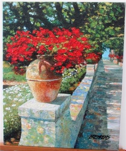 Howard Behrens Villa CIMBRONE Heavily Texturized Giclees on Stretched Canvas - Howard Behrens Villa