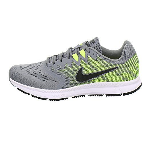 Pictures of NIKE Men's Air Zoom Span 2 908990 Grey/Black/Volt 5