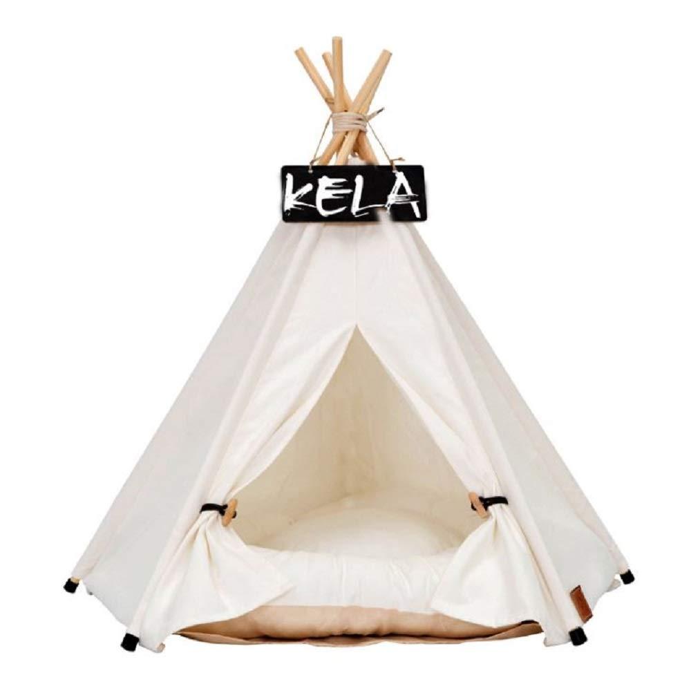 GDDYQ Pet Indoor Tenda, Lavabile lettiera per Animali Domestici Pieghevoli, Pet Play House (compreso Tappetino da Lavaggio Rimovibile),L