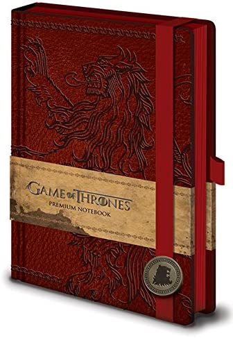 GAME OF THRONES LANNISTER PREMIUM A5 NOTEBOOK LEATHER LOOK COVER GREAT GIFT