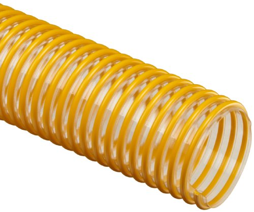 Flex-Tube PU Polyurethane Duct Hose, Clear, 6' ID, 0.035' Wall, 25' Length