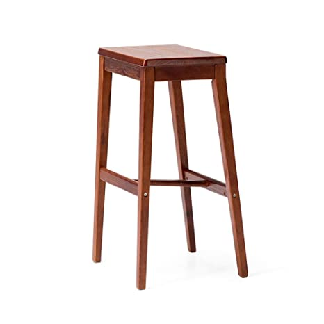 Prime Amazon Com Qqxx Wooden Bar Stools Kitchen Stools Breakfast Caraccident5 Cool Chair Designs And Ideas Caraccident5Info