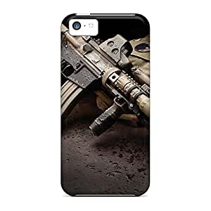 Durable mobile phone carrying covers Hot Style Nice iphone 5 / 5s - ar 15 assault rifle