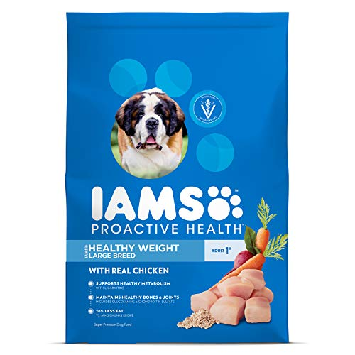 Iams Proactive Health Large Breed Adult Healthy Weight Dry Dog Food Chicken, 29.1 Lb. Bag (Best Healthy Weight Dog Food)
