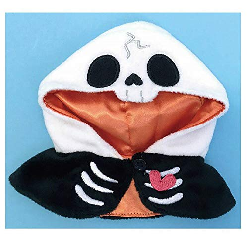 Nakajima Corporation Bean Doll Skeleton Poncho Pickles Halloween Costume 16㎝]()
