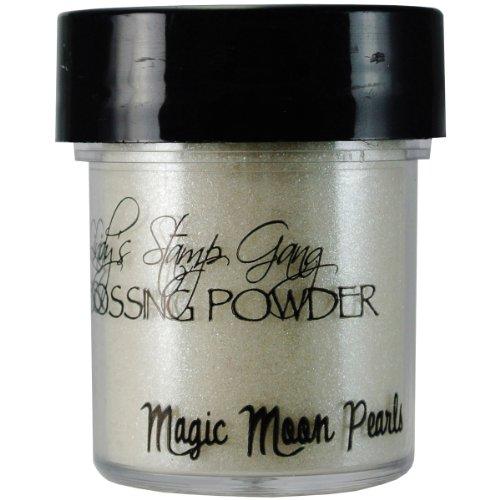 Lindy's Stamp Gang 2-Tone Embossing Powder, 0.5-Ounce Jar, Magic Moon Pearls