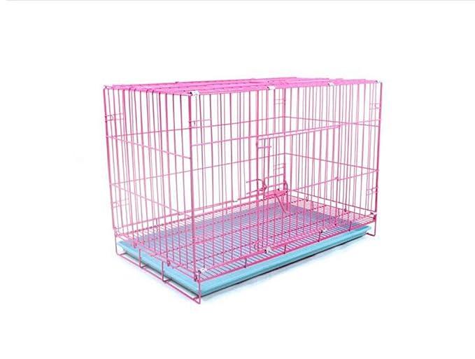 CLQya Las jaulas para perros, Pequeña y Mediana Perros plegable ...