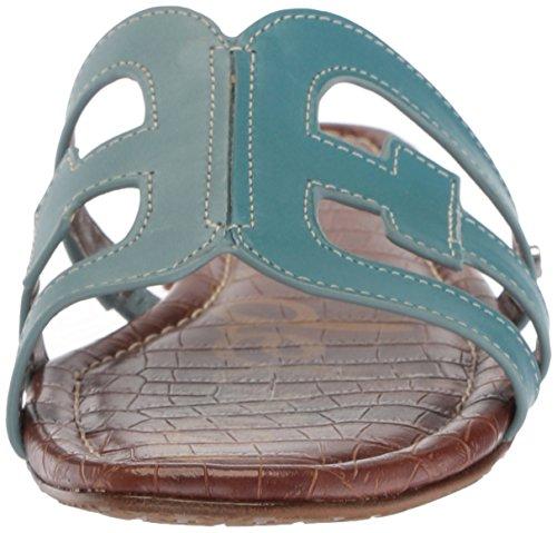 Denim Women's Edelman Bay Flat Sandals Blue Sam Blue New 5BUXwqdn