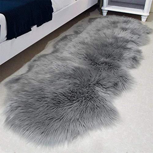 YIHAIC Faux Sheepskin Rug,Fur Faux Fleece Fluffy Area Rugs Anti-Skid Yoga Carpet for...