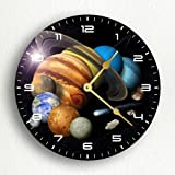 Solar System Montage 12'' Silent Wall Clock