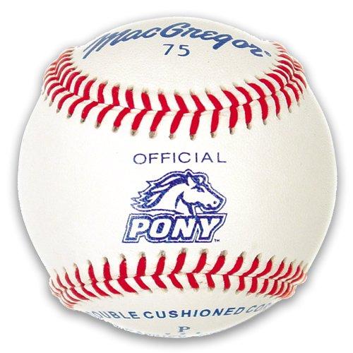 MacGregor MCB75CXX #75 Official Pony League Baseball (One Dozen)