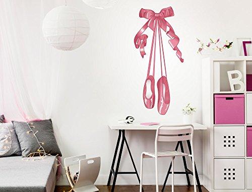 Des La De Mural Chaussures Ros Musique Ballerine Sticker Salle Enfants PqtXw
