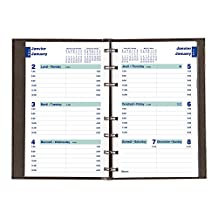 Blueline 2017 MiracleBind CoilPro Weekly Planner, Hard Black Cover, Bilingual, 8-Inch by 5-Inch