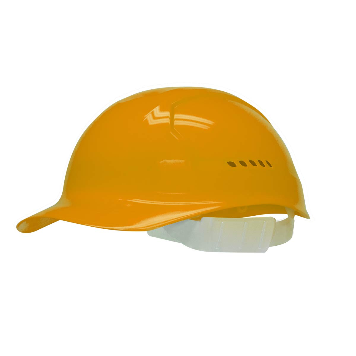 Bullard Orange HDPE Cap Style Bump Cap With Slidelock Suspension And Vinyl Browpad - Pack of 25 by BULLARD (Image #1)