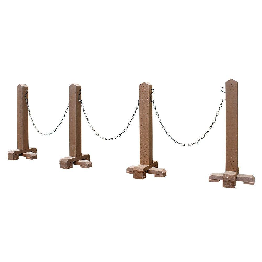 木製チェーンスタンド-ブラウン-1スパン(受注製作) チェーン付駐車場ポール B00SF89460 28320 1スパン  1スパン