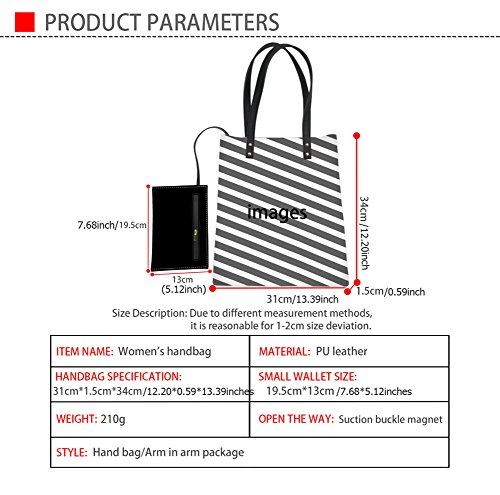 HUGS Travel Shoulder Tote Laptop Bag Waterproof Casual Dot Bag Triangle2 Leather IDEA PU Polka Print Bag rPqBrw4