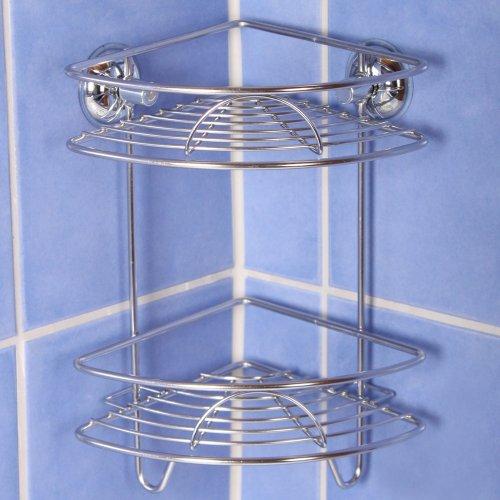 edelstahl duschregal duschablage badregal duschkorb amazonde kche haushalt - Duschablage Ecke