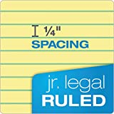 """TOPS The Legal Pad Writing Pads, 5"""" x 8"""", Jr. Legal Rule, Canary Paper"""