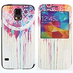 DUR Oil Paint Aeolian Bells Pattern PU Leather Full Body Case for Samsung Galaxy S5 I9600