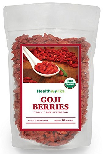 Organic Dried Fruit - Healthworks Goji Berries Raw Organic, 1lb