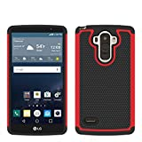 LG G Stylo Case, Deego 2 in 1 Shock Absorption Drop Protection Hybrid Dual Layer Armor Defender Protective Case Cover for LG G Stylo / LG G4 Stylus (LS770) (Red+Black)
