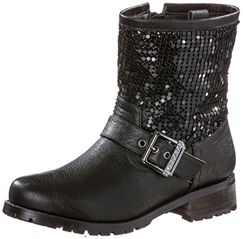 Buffalo girl Damen Bootie schwarz