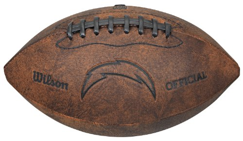 Wilson NFL Los Angeles Chargers Vintage Throwback Football, 9-inches