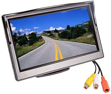 5 Car Reverse Monitor TFT LCD HD Digital 16 9,800480 Screen 2 Way Video Input Colorful For Reverse Rear View Camera DVD VCD, Easy Installation For Cars, SUVs, Vans, Pickups, Trucks.Super Night Vision